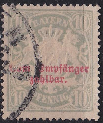 GERMANY Bayern Bavaria [Porto] MiNr 0012 B x ( O/used )