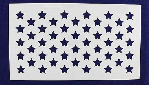 """50 Star Field Stencil 14 Mil -11""""H X 19L"""" - Painting /Crafts/ Templates"""