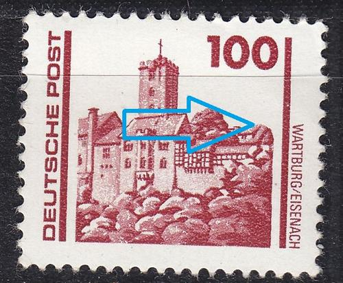 GERMANY DDR [1990] MiNr 3350 IV ( **/mnh ) Bauwerke Plattenfehler
