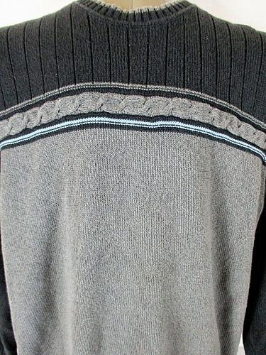 DOCKERS mens Sz XL L/S black gray 100% COTTON sweater (A7)