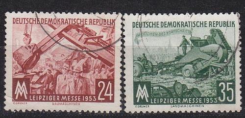 GERMANY DDR [1953] MiNr 0380-81 ( OO/used )