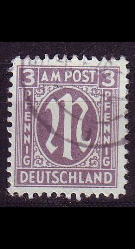 GERMANY Alliiert AmBri [1945] MiNr 0017 a C ( O/used )