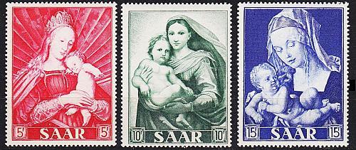 GERMANY Saar [1954] MiNr 0351-53 ( **/mnh )