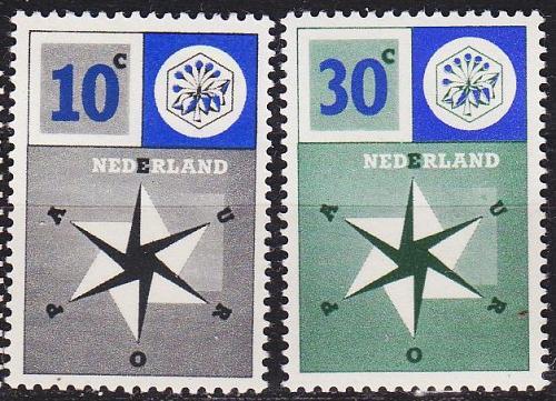 NIEDERLANDE NETHERLANDS [1957] MiNr 0704-05 ( **/mnh ) CEPT