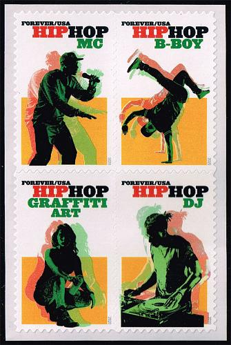 US #5483a Hip Hop Block of 4; MNH (5Stars) |USA5483a-03