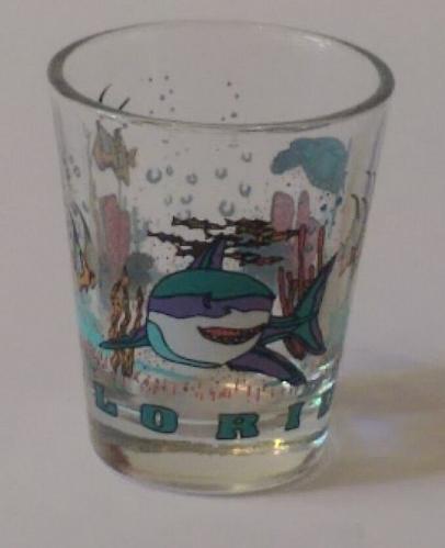 "Florida Marine Life 2.25"" Collectible Shot Glass (3-87)"