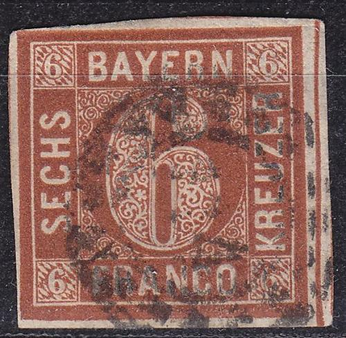 GERMANY Bayern Bavaria [1850] MiNr 0004 II ( O/used ) [08]