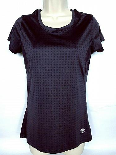 Umbro Women's Active Wear Athletic T-Shirt Small Gray Polka Dot Workout