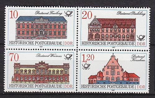 GERMANY DDR [1987] MiNr 3067-70 4er ( **/mnh ) Bauwerke