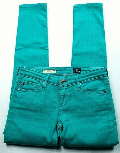 AG Adriano Goldschmied Women's The Legging Super Skinny Jeans 24R Teal Stretch