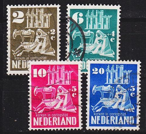 NIEDERLANDE NETHERLANDS [1950] MiNr 0558-62 ( O/used )