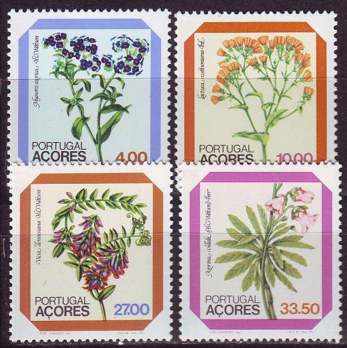 PORTUGAL [Azoren] MiNr 0349-52 ( **/mnh ) Pflanzen