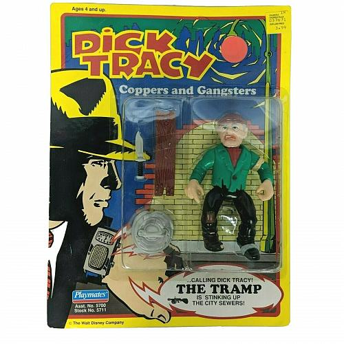 Vintage 1990 Dick Tracy Coppers and Gangsters The Tramp Action Figure Playmates