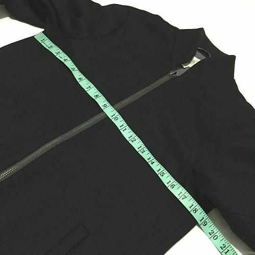 Work Rest Karma W.R.K. Black Jacket Full zipper wool Knit blend shell Size S