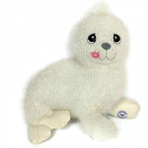 "Precious Moments Tender Tails White Cecelia the Seal Plush Stuffed Toy 2001 6.5"""