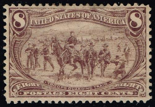 US #289 Troops Guarding Wagon Train; Unused NG (1Stars) |USA0289-04XRP