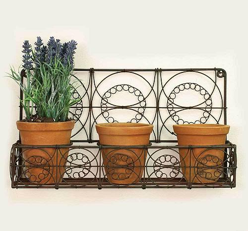 Outdoor Indoor Hanging Wire Wall Basket Planters Flowers Herbs Garden Patio New