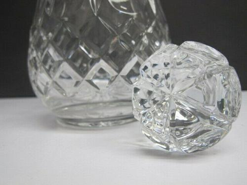 Rogaska signed Hand Cut glass decanter Queen 24% lead crystal