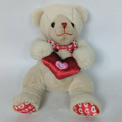 Soyea Valentine Bear Red Heart Love Plush Stuffed Animal 6""
