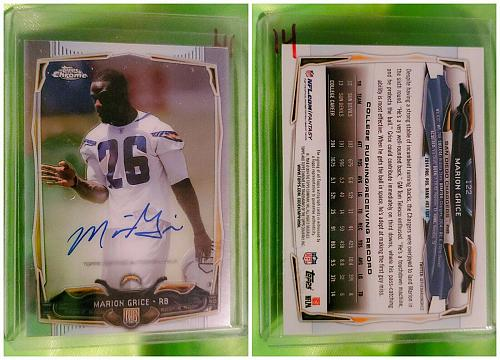 NFL Marion Grice San Diego Chargers Autographed 2014 Topps Chrome Rookie Mint