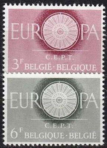 BELGIEN BELGIUM [1960] MiNr 1209-10 ( **/mnh ) CEPT