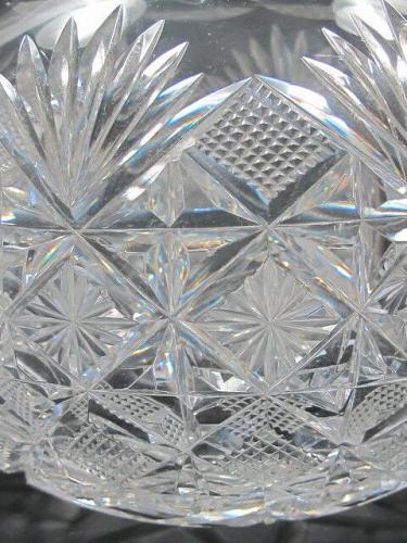 American Brilliant Period Cut Glass Carafe Antique