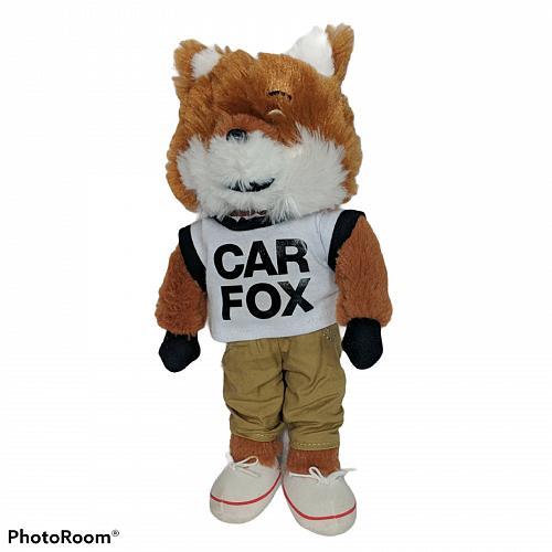 "Car Fax Car Fox Mascot Fox Promotional Plush Stuffed Animal 2015 10.5"""
