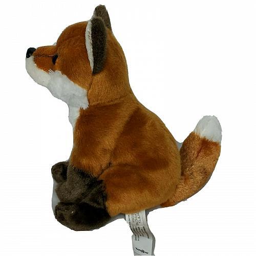 "Toys R Us Brown White Realistic Fox Plush Stuffed Animal 2015 8.25"""