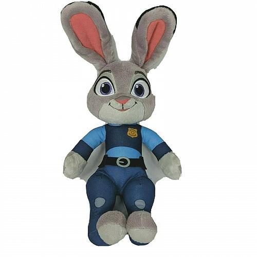 "Disney Zootopia Lt Judy Hopps Talking Rabbit Plush Stuffed Animal 15.25"""