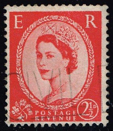 Great Britain #321 Queen Elizabeth II; Used (0.25) (2Stars)  GBR0321-07XVA