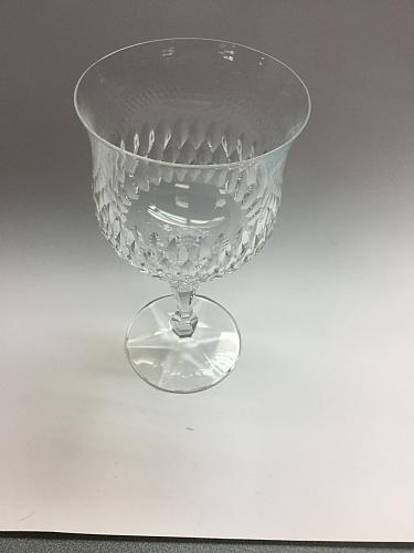 Cut glass goblet 24% lead crystal nice quality