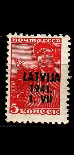 GERMANY REICH Besetzung [Lettland] MiNr 0001 ( **/mnh )
