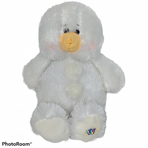 Ganz Webkinz White Snowman Stuffed Animal Plush HM370 11.25""