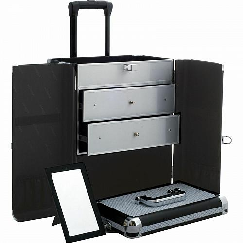Rolling Beauty Makeup Cosmetic Case Organizer Storage Trolley Travel Drawers New
