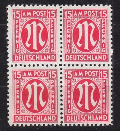 GERMANY Alliiert AmBri [1945] MiNr 0008 ( **/mnh ) [01] 4er