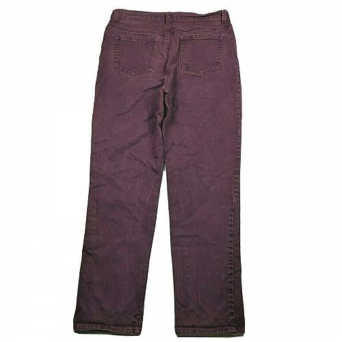 Gloria Vanderbilt Amanda Straight Leg Jeans Size 12 Red Wash Stretch Denim