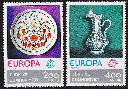TÜRKEI TURKEY [1976] MiNr 2385-86 ( **/mnh ) CEPT