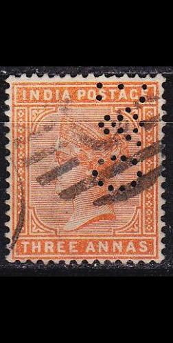 INDIEN INDIA [1882] MiNr 0036 a ( O/used ) [01] perfin