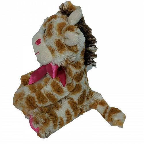 "Dan Dee Collectors Choice Valentine Giraffe Heart Bow Plush Stuffed Animal 8"""