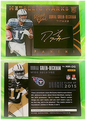NFL Dorial Green-Beckham Titans autographed 2015 Panini Black Gold Patch Sp/ 99