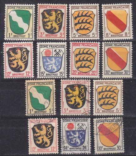 GERMANY Alliiert Franz. Zone [Allgemein] MiNr 0001 ex ( **/mnh ) [01] auch O/used
