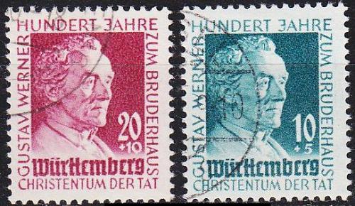 GERMANY Alliiert Franz. Zone [Württemberg] MiNr 0047-48 ( O/used ) [01]