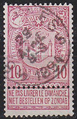 BELGIEN BELGIUM [1894] MiNr 0062 ( O/used )