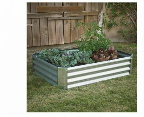 Industrial Farmhouse Steel Raised Garden Bed Backyard Metal Planter with Lining