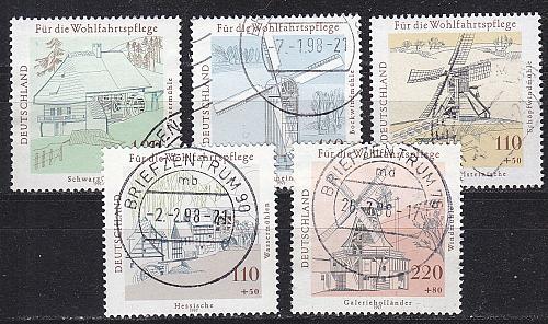 GERMANY BUND [1997] MiNr 1948-52 ( O/used ) [02] Bauwerke
