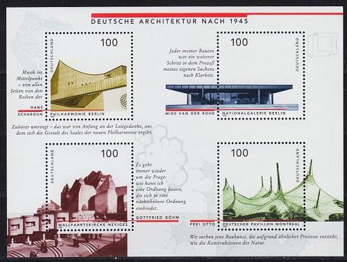 GERMANY BUND [1997] MiNr 1906-09 Block 37 ( **/mnh ) Bauwerke