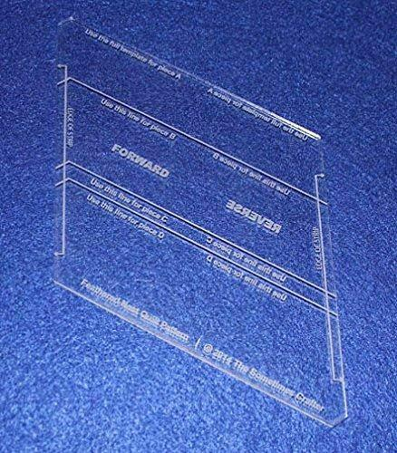 """Feathered Nest Template. Clear 1/8"""" Thick Acrylic"""