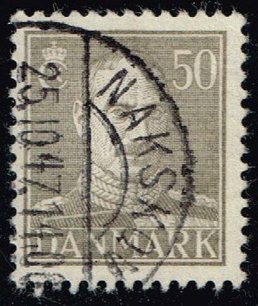 Denmark #286B King Christian X; Used (0.25) (2Stars) |DEN0286B-02