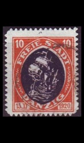 GERMANY REICH Danzig [1921] MiNr 0054 ( OO/used )