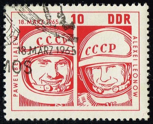 Germany DDR #762 Pavel Belyayev - Alexei Leonov; CTO (0.25) (3Stars)  DDR0762-02